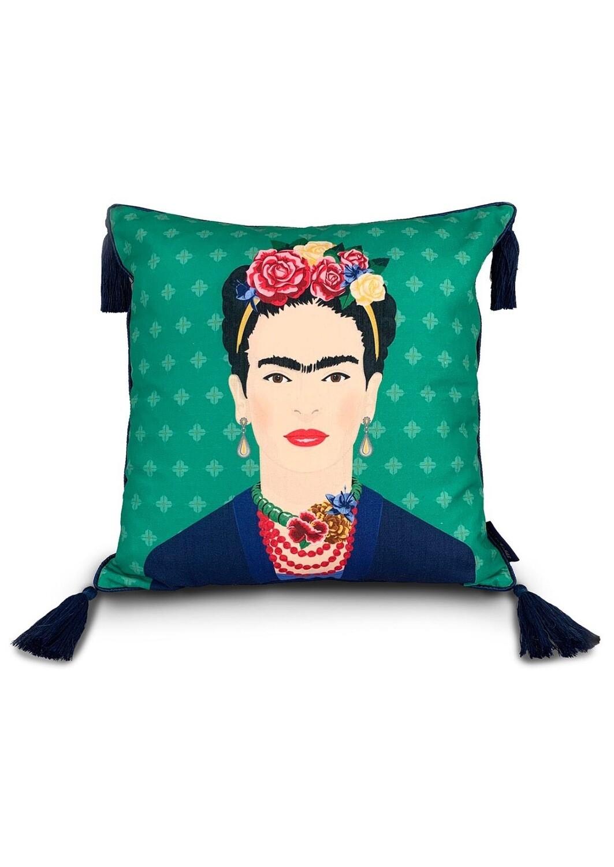 Frida Kahlo Green Vogue Cushion