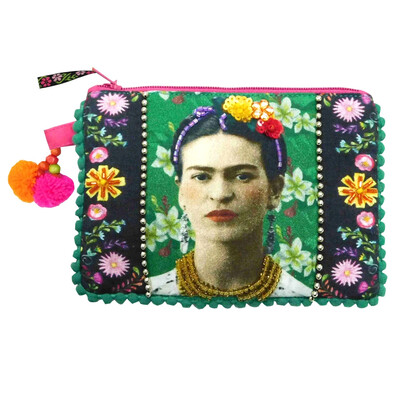 Small Frida Kahlo Photo Zip Purse