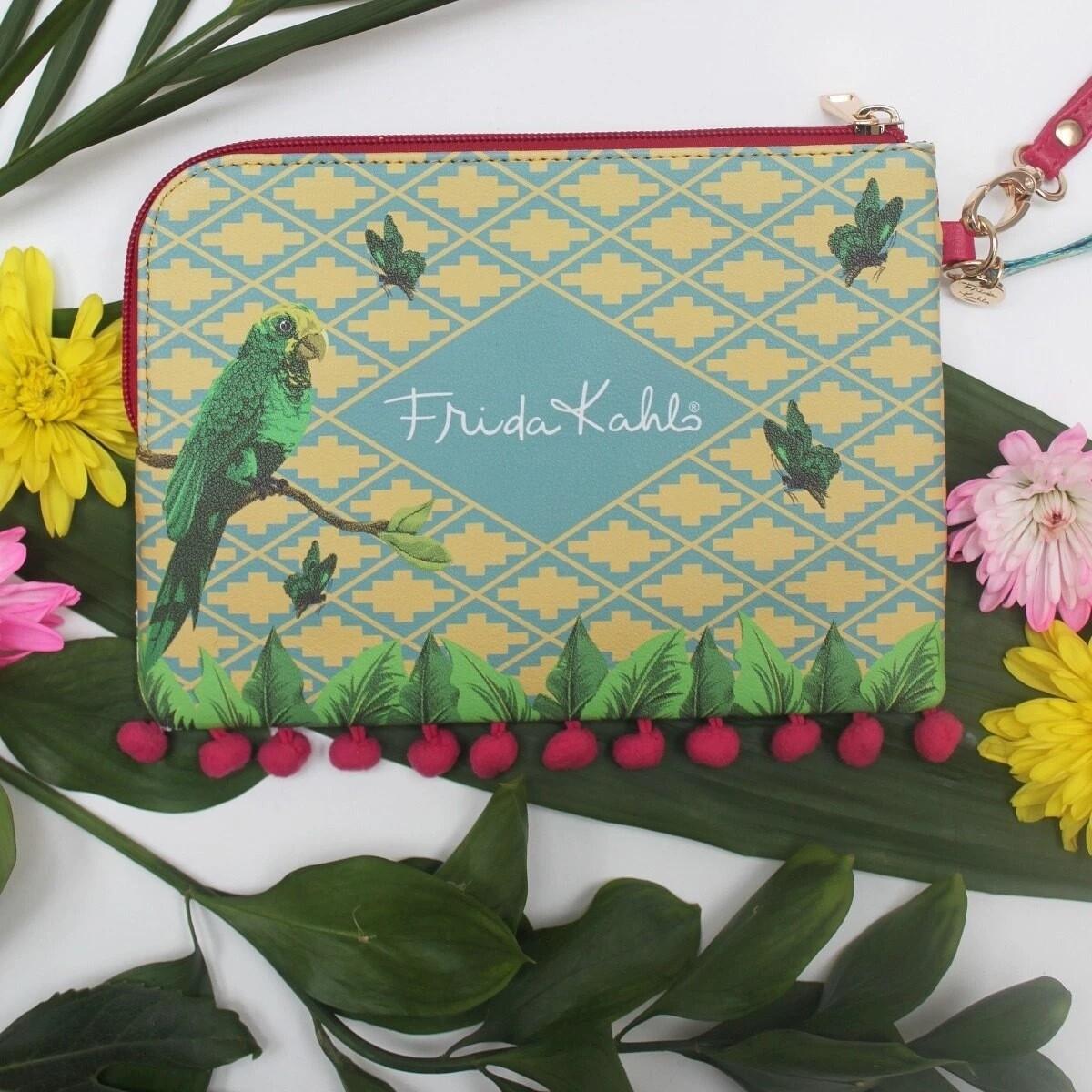 Frida Kahlo 'Parrot' Make Up Bag