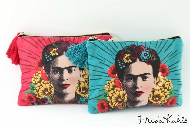 Frida Kahlo  Velvet Make Up Bag