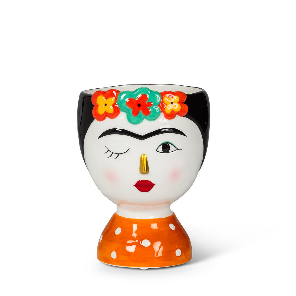 Small Lady with Flowers Vase