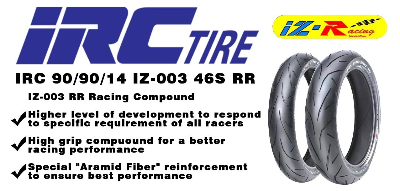 TIRE  IRC 90 90 14  IZ-003 46S RR Racing compound