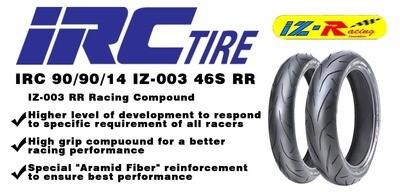 TIRE  IRC 90 90 14  IZ-003 46S RR Racing compound