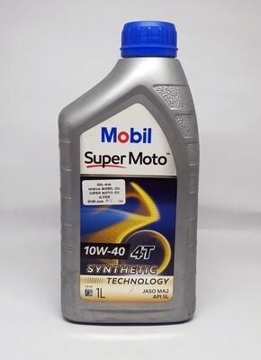 10W/40  MOBIL OIL SUPER MOTO by 1liter