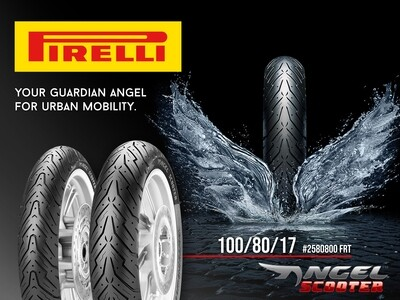 PIRELLI TIRE ANGEL 100/80-17  #2580800 FRT