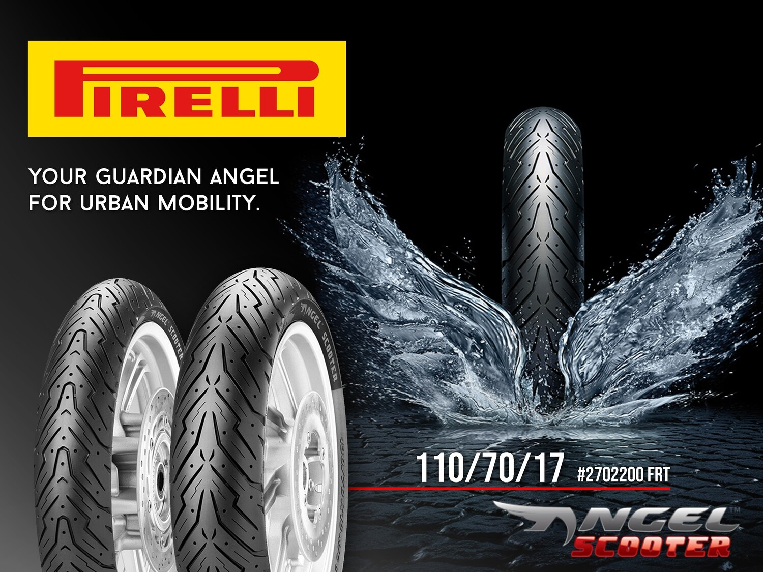 PIRELLI TIRE ANGEL 110/70/17  #2702200 FRT