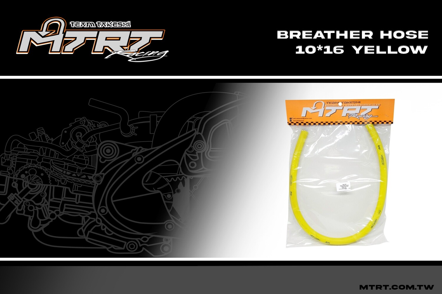 BREATHER HOSE YELLOW 10MM MTRT