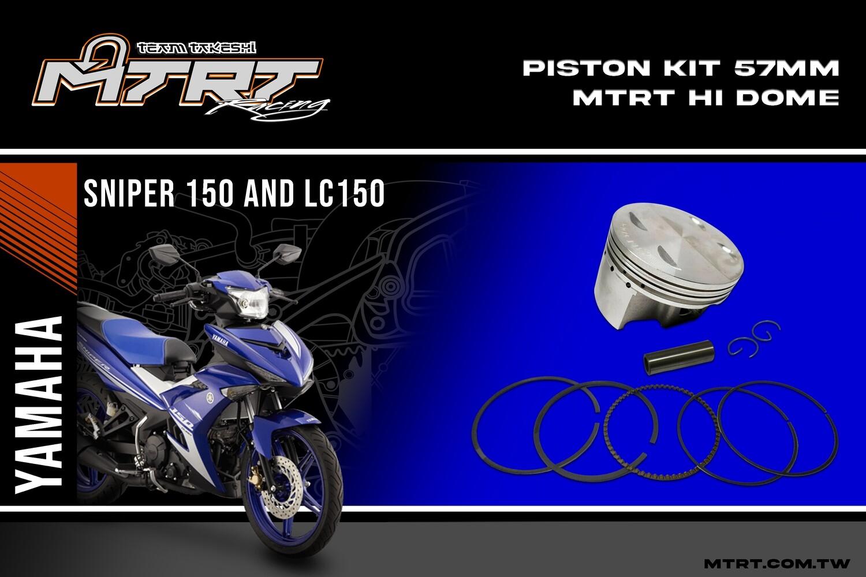 PISTON KIT  Hi dome  MX150 LC150  57mm FORGED Hi-dome 4V P-14
