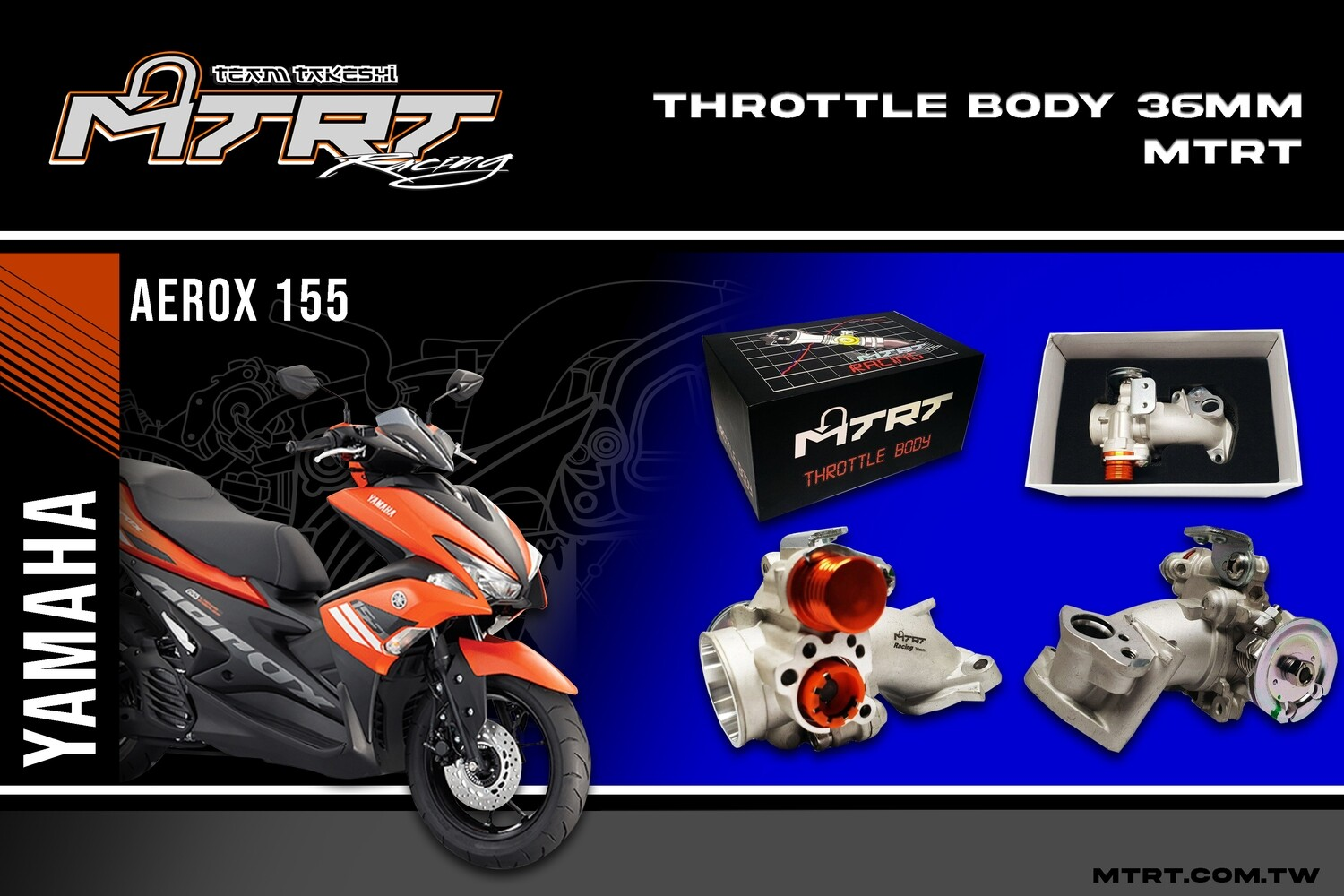 36MM THROTTLE BODY AEROX155/NVX without TPS MTRT
