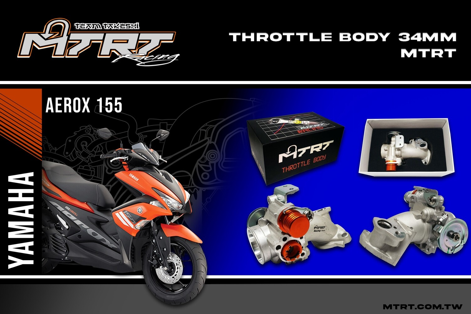 34MM THROTTLE BODY AEROX155/NVX without TPS  MTRT
