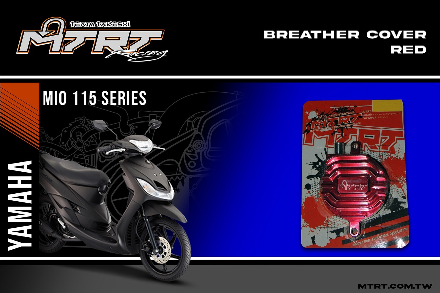 BREATHER COVER MIO (Red)
