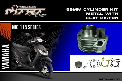 59MM MIO CYLINDER KIT METAL WITH FLAT PISTON MTRT