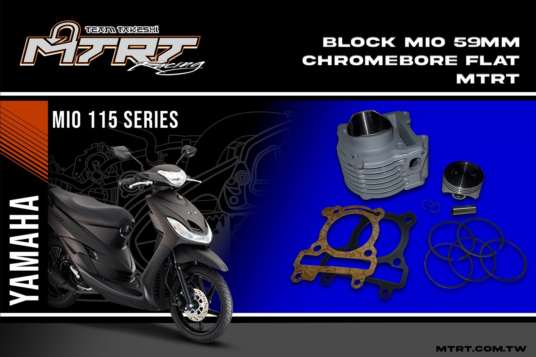 BLOCK MIO 59mm Chromebore FLAT MTRT