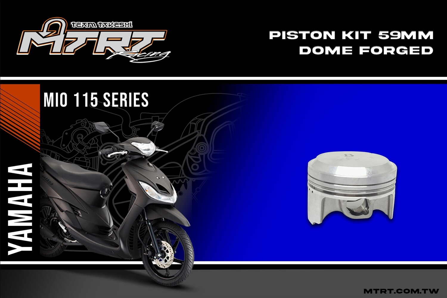 PISTON KIT 59MM DOME FORGED