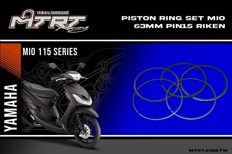 PISTON RING SET 63MM  Pin15 RIKEN