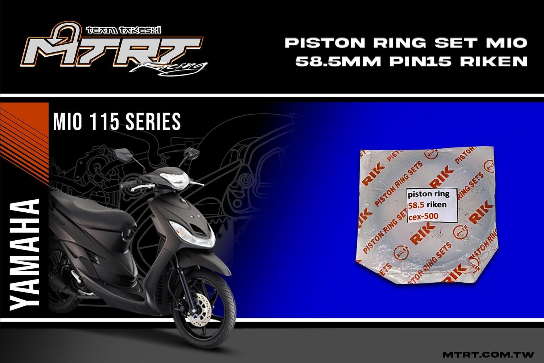 PISTON RING SET 58.5MM pin15