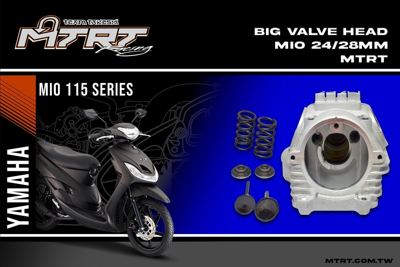 BIG VALVE HEAD MIO 24/28mm(plus metal retainer,valvespring6t,valves)