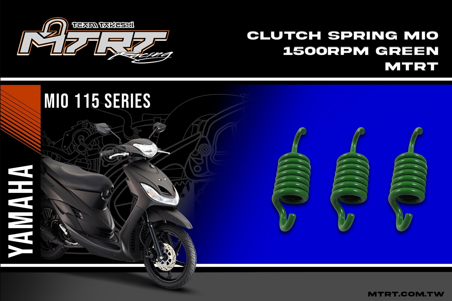 CLUTCH SPRING MIOSkydrive  1500RPM Green MTRT