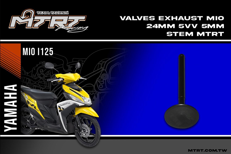 VALVES EXHAUST MIO  24MM  5VV  5mm stem MTRT