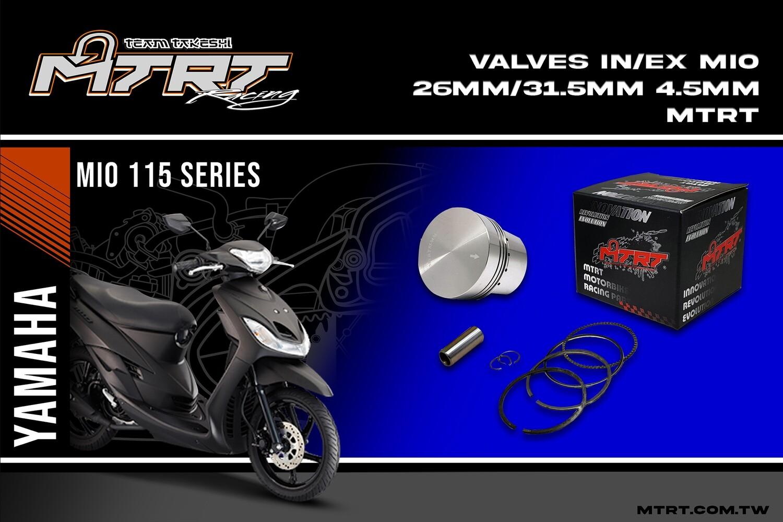 VALVES  IN/EX  MIO 26MM/31.5mm  4.5mm MTRT