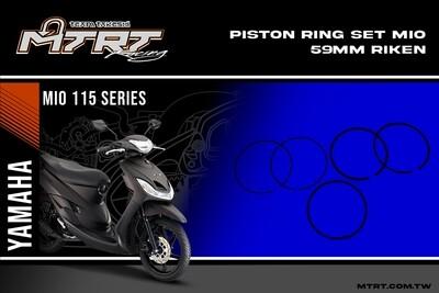 PISTON RING SET MIO  59mm RIKEN
