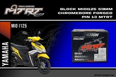 BLOCK MIOi125 59MM CHROMEBORE FORGED MTRT