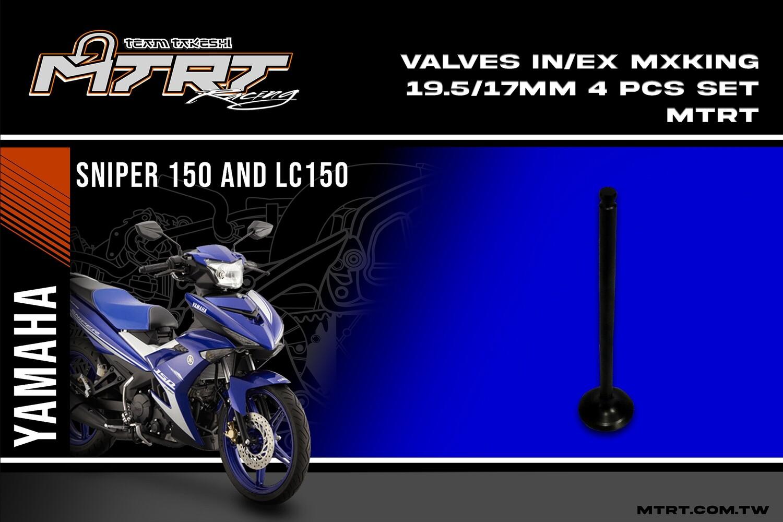 VALVES  IN/EX  SNIPER135/MX KING 19.5/17MM MTRT 4pcsSET