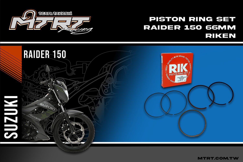 PISTON RING SET Raider150 66mm  RIKEN