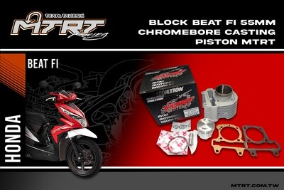 BLOCK BEAT Fi 55MM Chromebore Casting piston MTRT