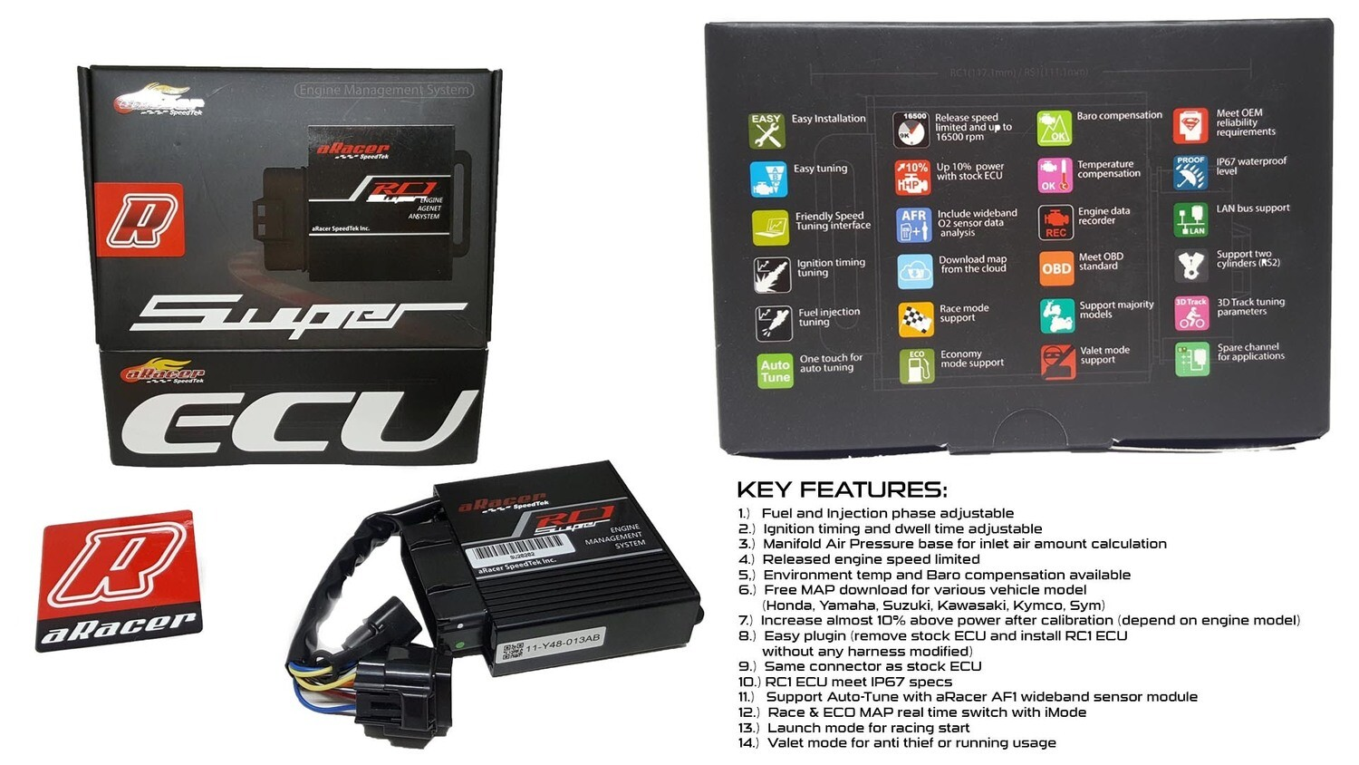 ARACER SPEEDTEK ECU RC1 SUPER PROGRAMMABLE (DUKE 390)