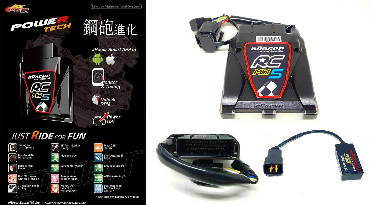 ARACER speedtek ECU RC Mini 5 Z125
