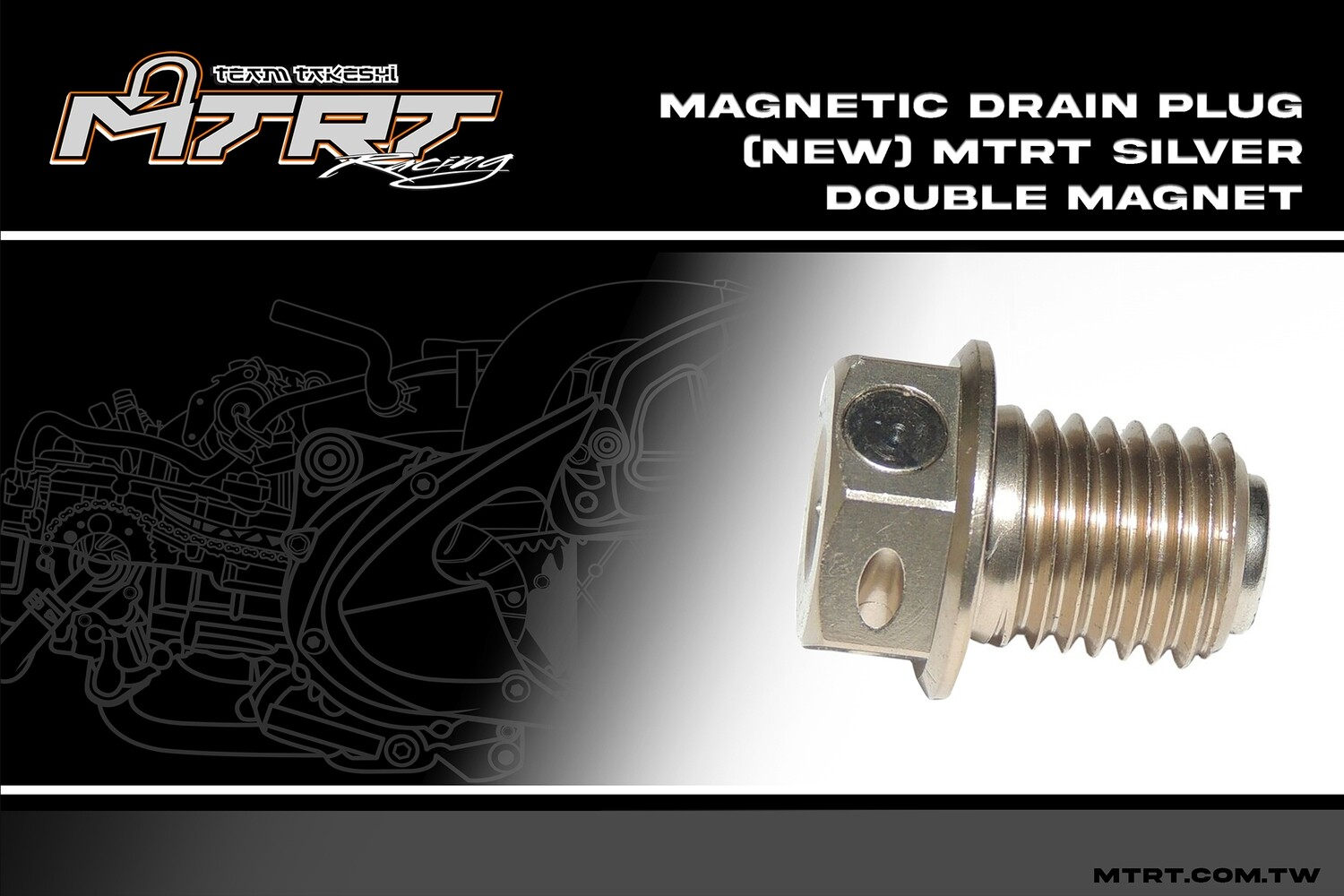 DOUBLE MAGNETIC DRAIN SCREW SILVER MIO MTRT