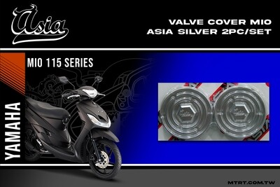 VALVE COVER MIO ASIA  SILVER  2pc-set