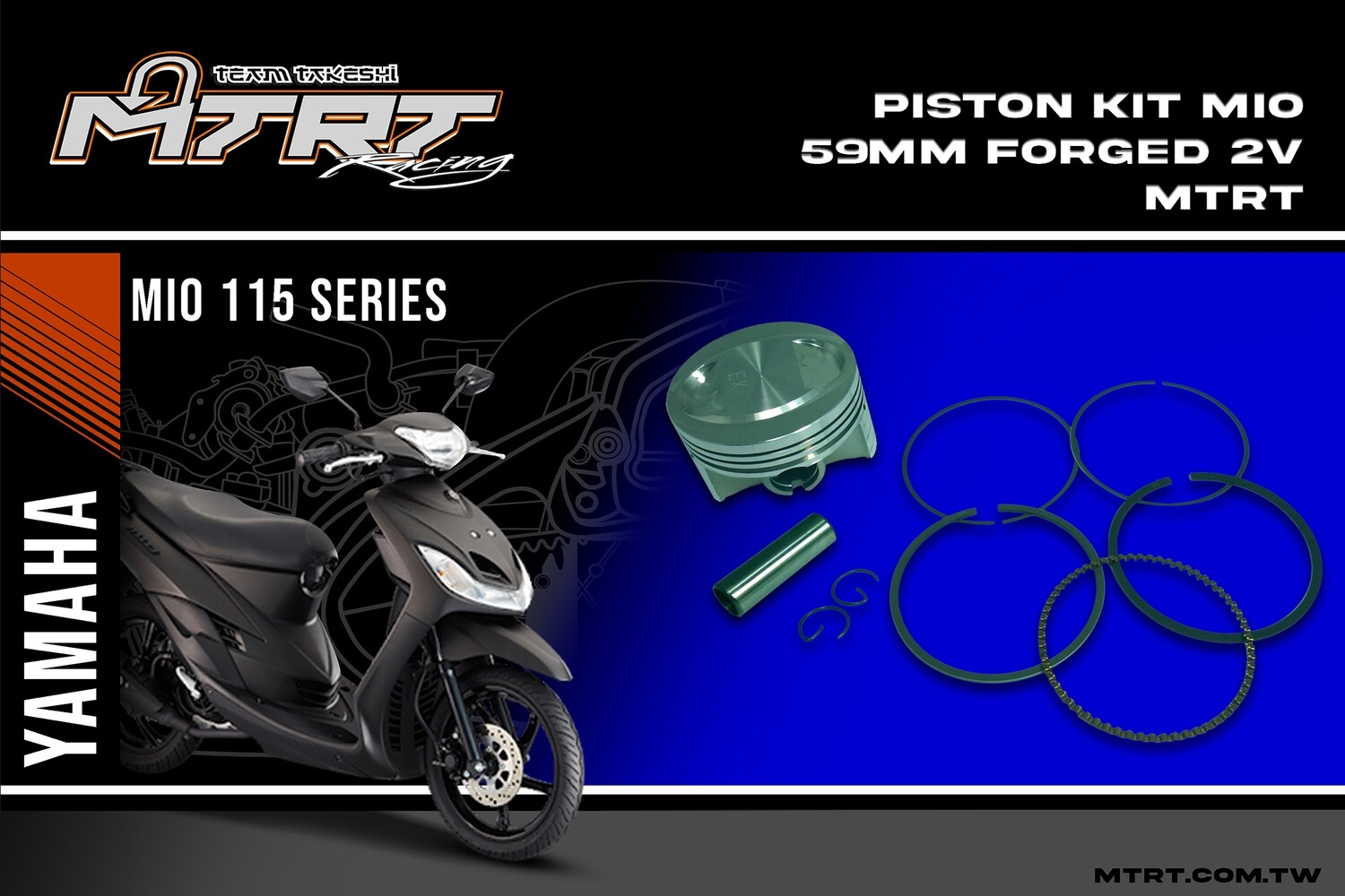 PISTON  KIT  MIO 59MM FORGED 2V MTRT