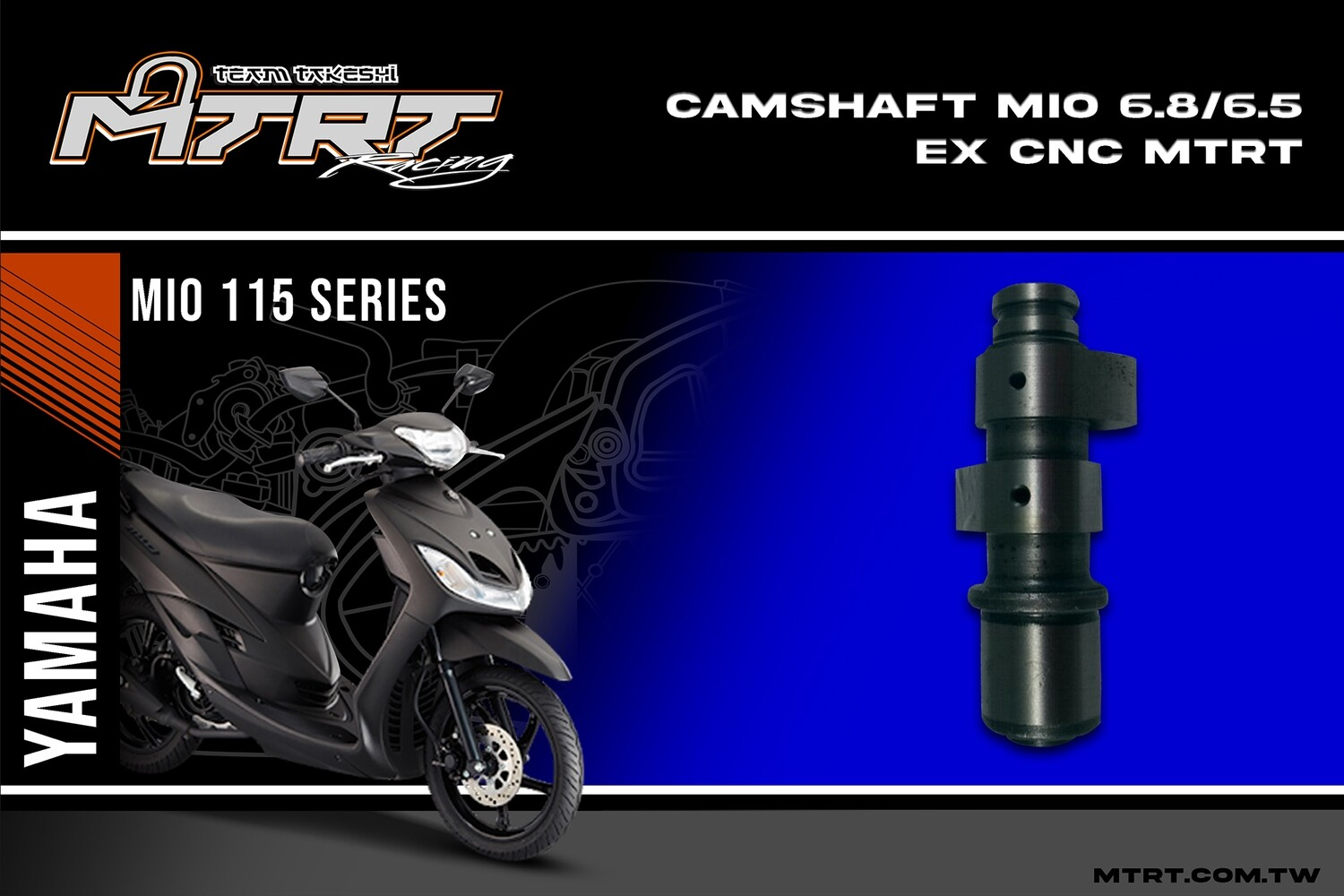 CNC CAMS IN 6.8-EX 6.5MM MIO MTRT