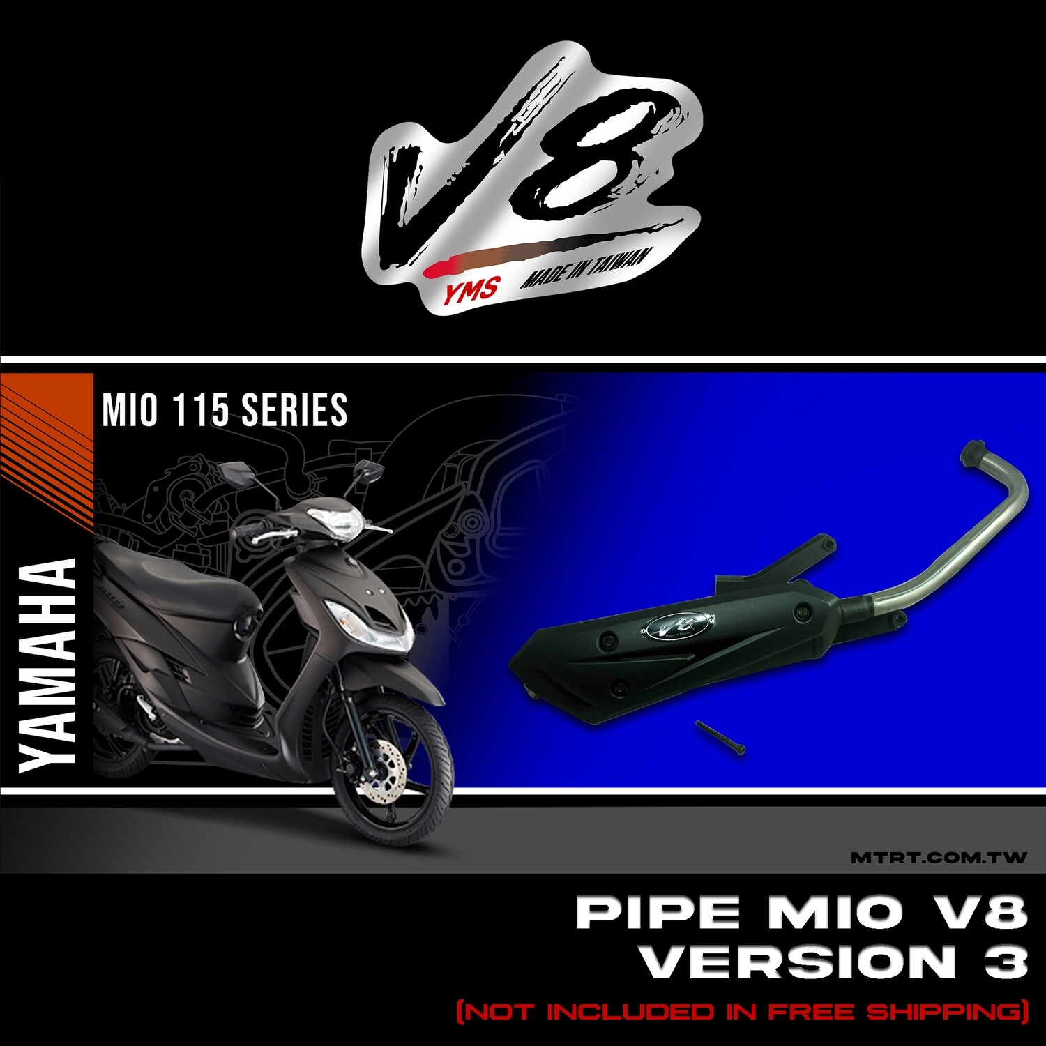 PIPE MIO V8 Version3 (V3)