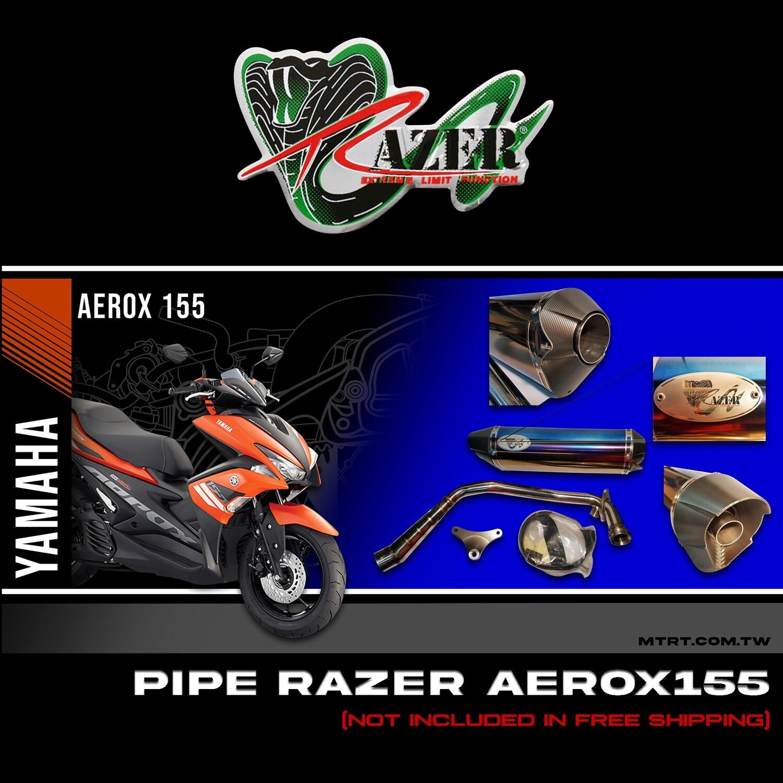 PIPE RAZER NMAX155  Body marked Titanium (razer)