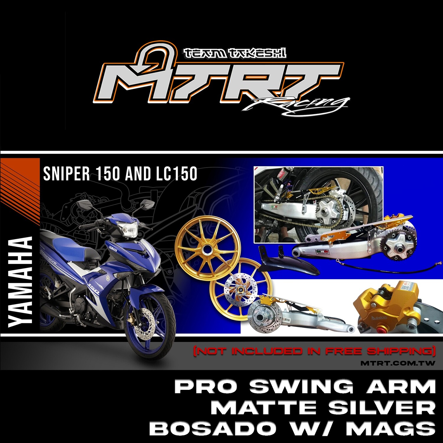 """PRO SWING ARM SILVER with gold """"BOSADO"""" MAGS  SNIPER Mx-KING"""