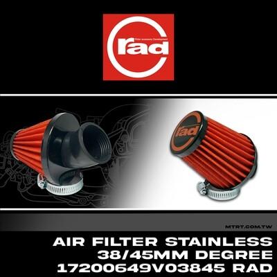 AIR FILTER Stainless 38 _45mm Degree 17200649V03845 RAD