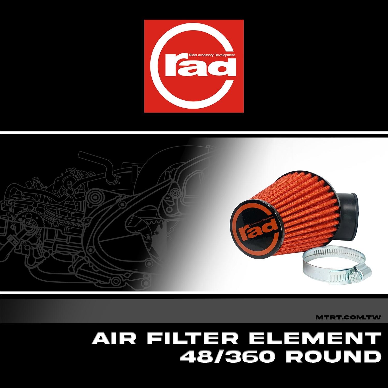 AIR FILTER ELEMENT48-360mm 17200649VO4836 ROUND RAD