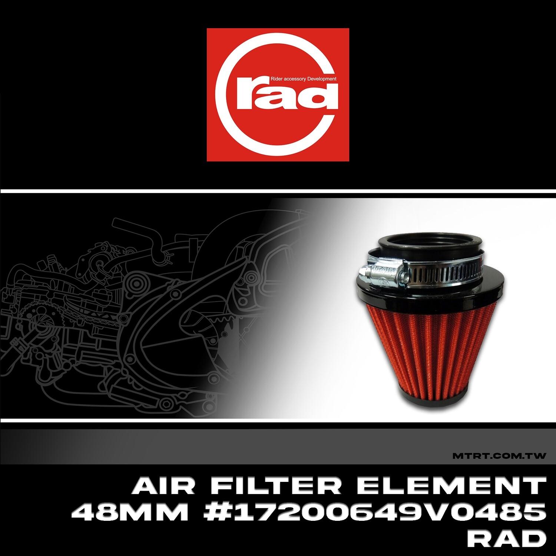 AIR FILTER ELEMENT 48MM #17200649V0485 RAD Round Straight Short