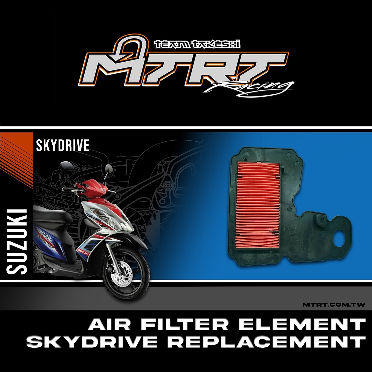 AIR FILTER ELEMENT SKYDRIVE  Replacement