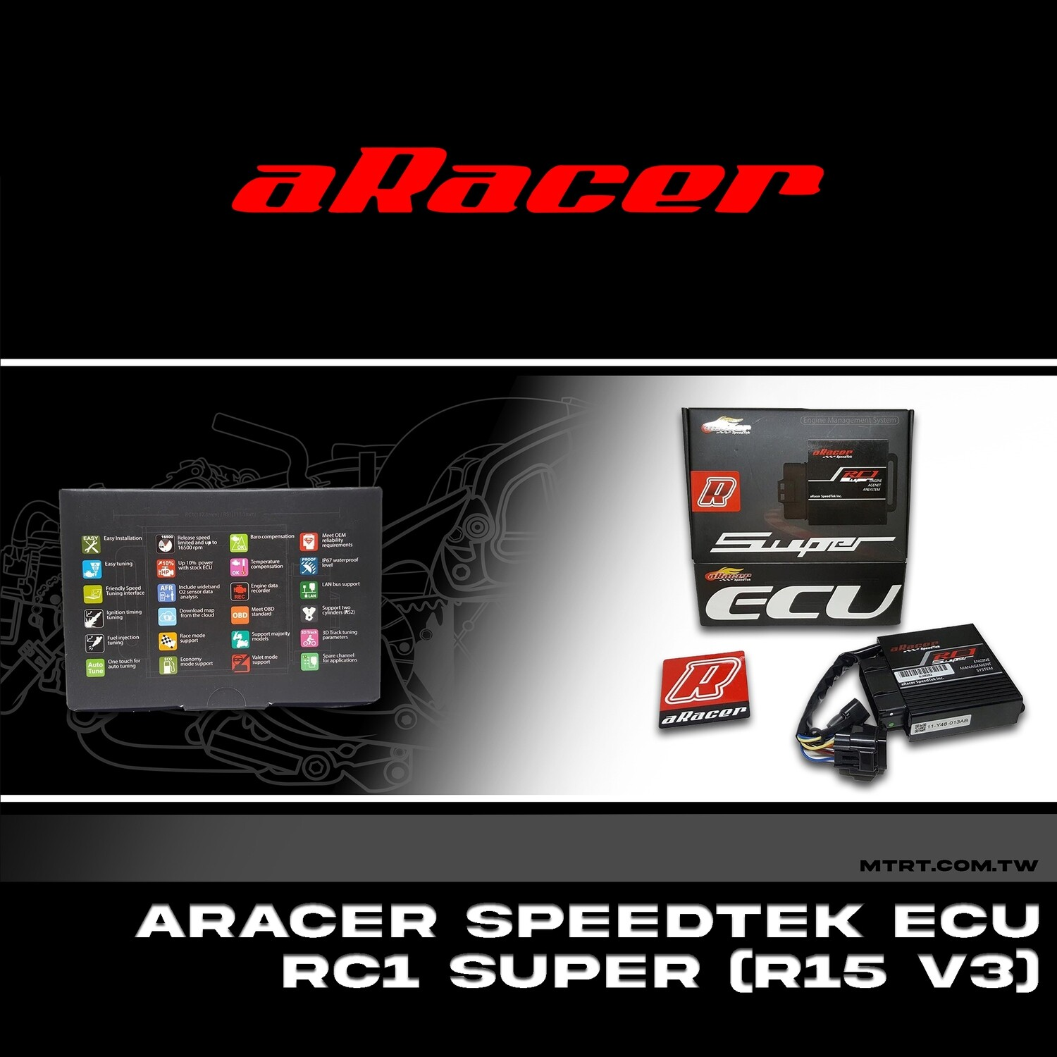 RACER SPEEDTEK ECU RC1 SUPER PROGRAMMABLE R15 V3