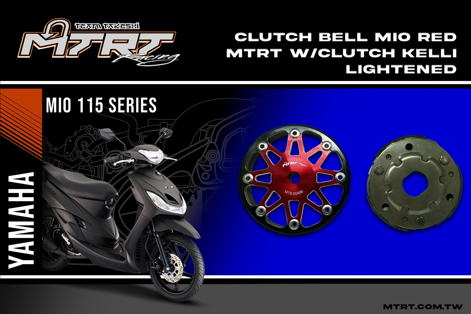 CLUTCH BELL MIO RED MTRT with CLUTCH KELLI LIGHTENED