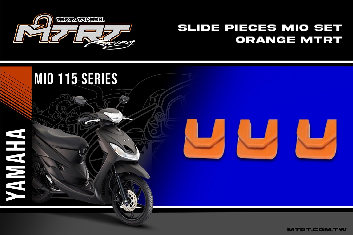 SLIDE PIECES  MIO Set  ORANGE MTRT