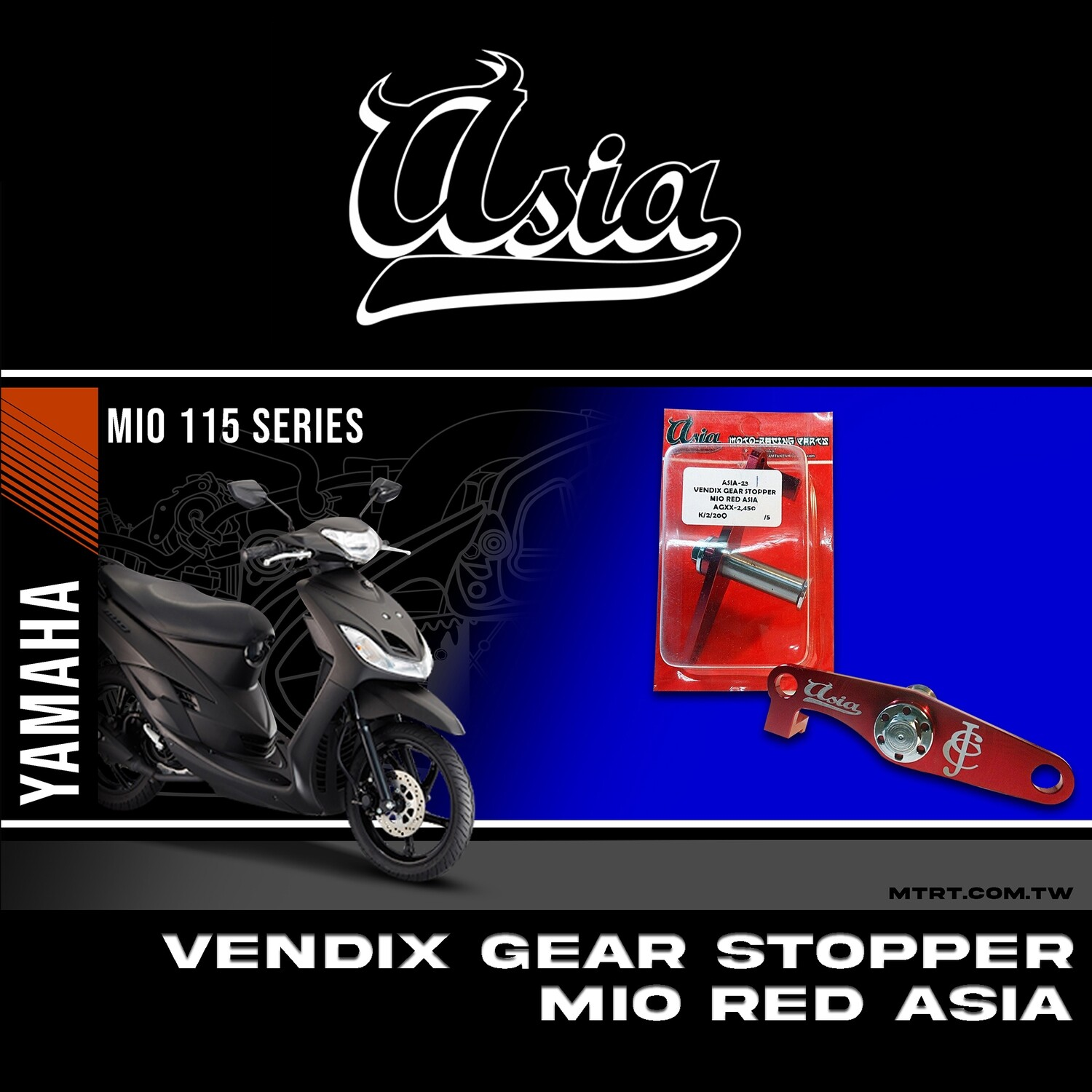 VENDIX GEAR STOPPER MIO RED ASIA