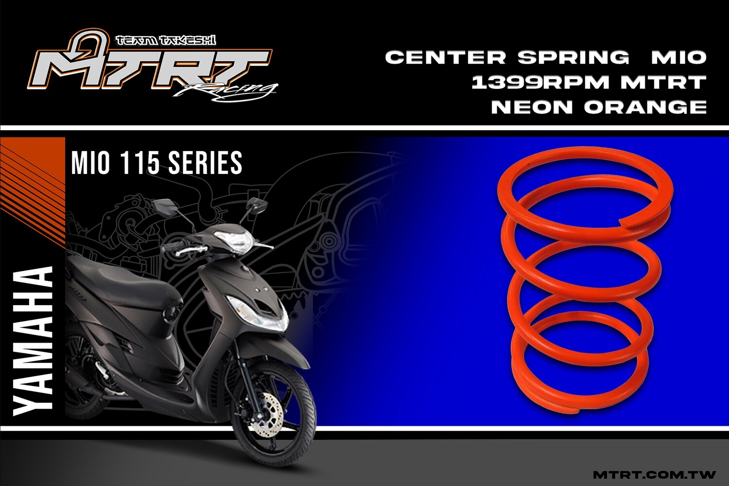 CENTER SPRING  MIO 1399rpm MTRT Neon Orange