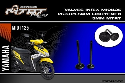 LIGHTENED VALVES MIO I 125 - GT125 26.5-21.5MM 5MM MTRT