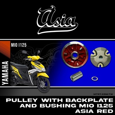 PULLEY with BACK PLATE with bushing MIOi125 ASIA RED