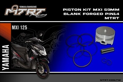 PISTON KIT 59MM BLANK FORGED Pin14 MTRT